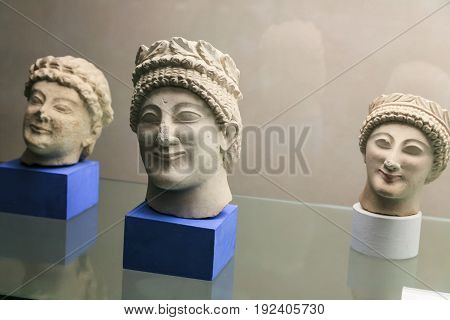 Etruscan Sculptures In Museum Of Florence