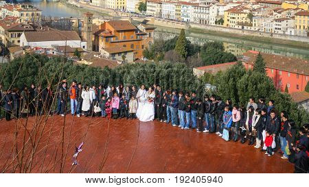 Guests On Wedding Ceremony In Florence
