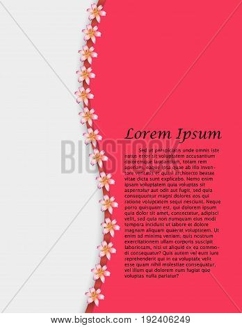 Background With Beautiful Colorful Flower. Vector Illustration Template.banners.wallpaper.flyers, In