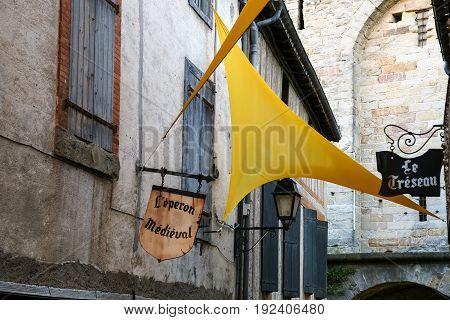 Street Decoration In Medieval Cite De Carcassonne