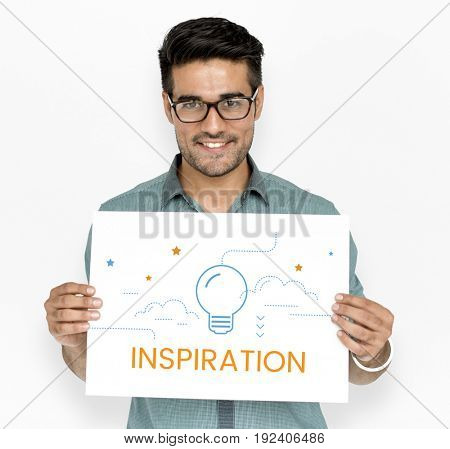 Light Bulb Think Create Inspiration Graphic Word