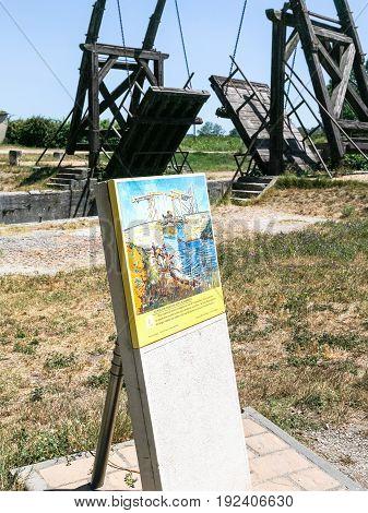 View Of Pont Van Gogh In Arles, France