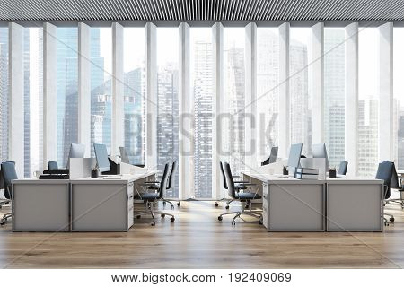 Workplace In An Open Space Office