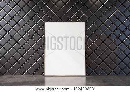 Black Empty Room With A Vertical Poster