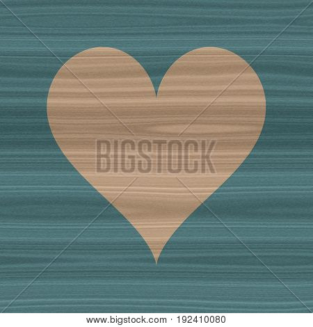 Beige and indigo style homely love symbol wooden heart