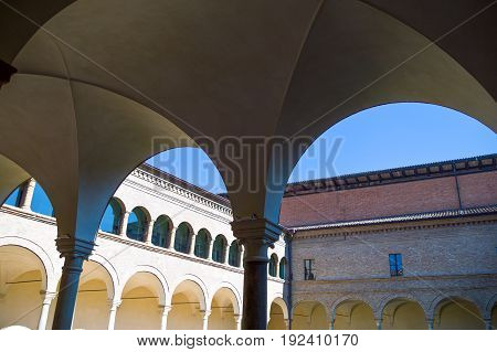 Italy Ravenna the antique cloister of the Franciscan friars near the Dante Alighieri tomb.