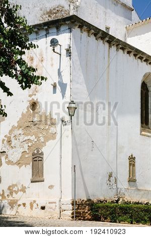 White Walls Of Church Of Santiago In Tavira City