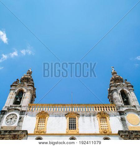 Facade Of Church Igreja Do Carmo In Faro