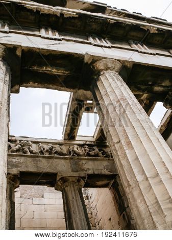 Columns Of Temple Of Hephaestus In Athens