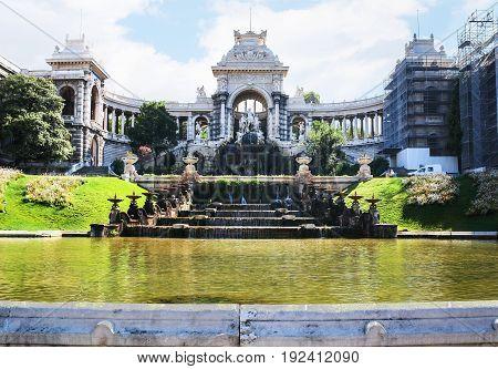 Fountain And Chateau D'eau In Palais Longchamp