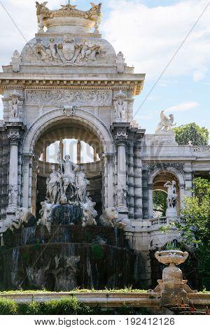 Cascade Fountain In Palais Longchamp