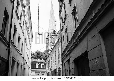 Urban Houses On Maza Miesnieku Iela Street