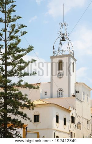 Bell Tower Of Santa Ana Church In Albufeira