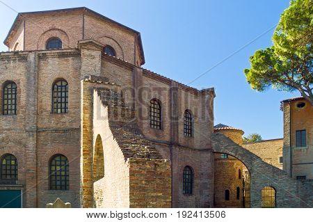 Italy Ravenna, view of the San Vitale basilica