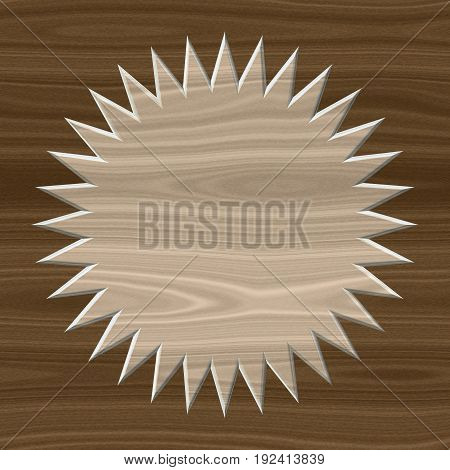 Light and dark wooden texture wheel label layout background