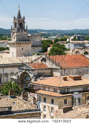 Skyline Of Medieval Avignon City