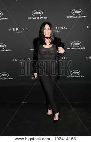 Beatrice  Dalle at the Women in Motion Awards Dinner  for at the 70th Festival de Cannes.May 21, 2017 Cannes, France
