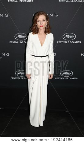 Isabelle Huppert at the Women in Motion Awards Dinner  for at the 70th Festival de Cannes.May 21, 2017 Cannes, France