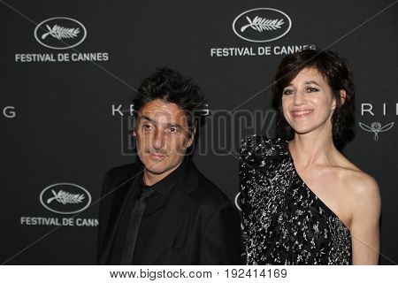 Charlotte Gainsbourg, Yvan Attal at the Women in Motion Awards Dinner  for at the 70th Festival de Cannes.May 21, 2017 Cannes, France