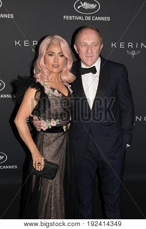 Francois-Henri Pinault, Salma Hayek at the Women in Motion Awards Dinner  for at the 70th Festival de Cannes.May 21, 2017 Cannes, France