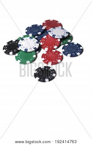 Heap Of Poker Chips