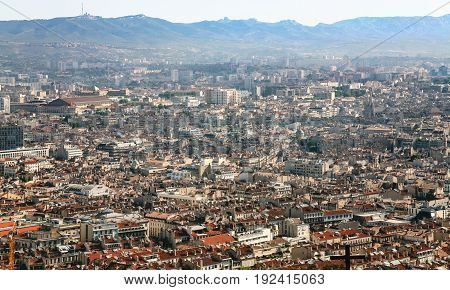 Panoramic View Of Marseilles City