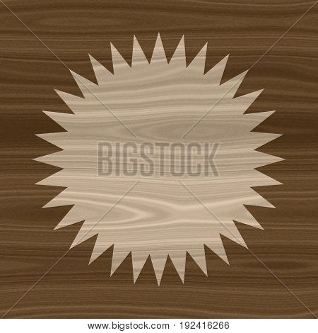 Wooden frame circle element layout template background