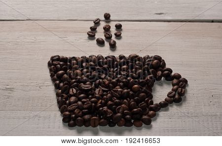 Cup Of Coffee Made From Beans.