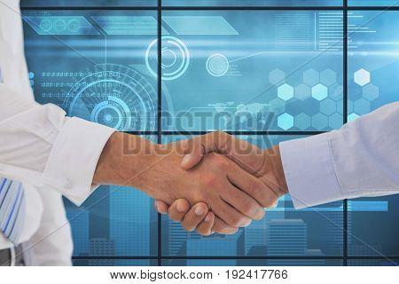 Digital composite of Handshake
