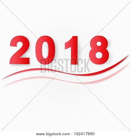 Vector illustration 2018 Happy New Year. EPS 10.