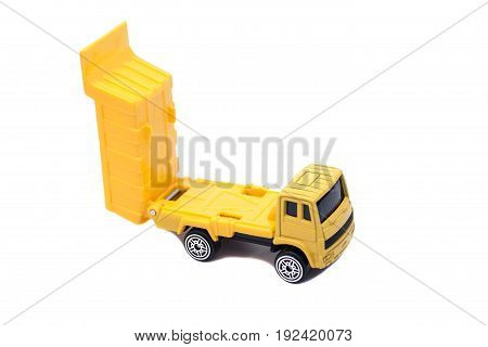 truck caries isolated on white background .