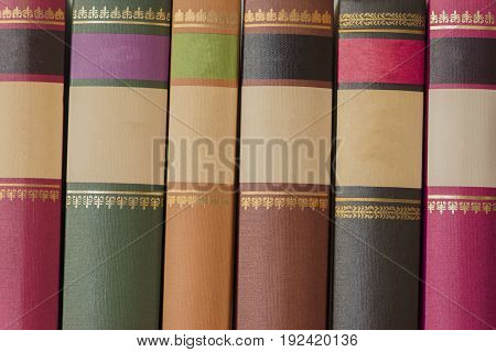 A lot of books of different colors