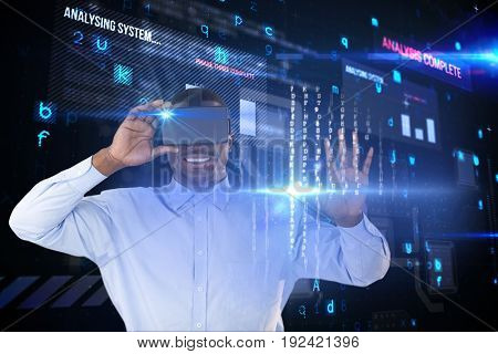 Digital composite of VR+flares_interfaces