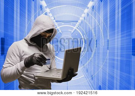 Digital composite of hacker
