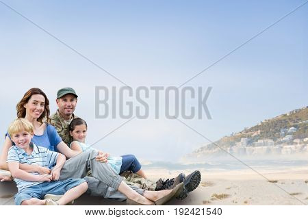 Digital composite of family_outdoors