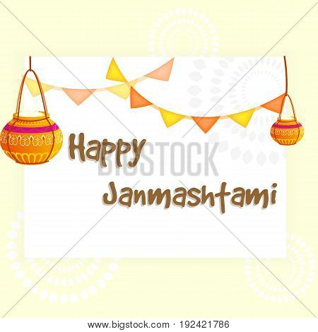 Vector illustration Happy Janmashtami. EPS 10 .
