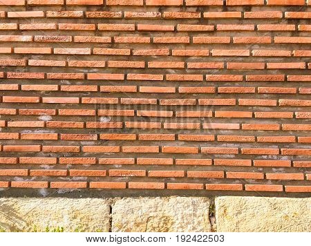 Brick wall texture brick wall background brick wall for interior or exterior design with copy space for text or image. Red organic brick wall texture background.