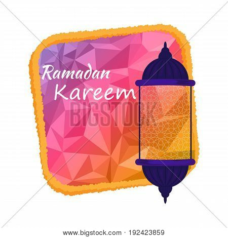Vector illustration of Ramadan kareem. EPS 10.