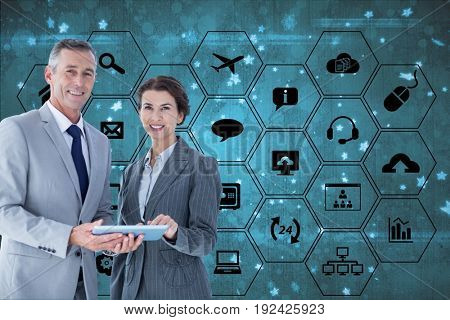Digital composite of APPS -  models with devices