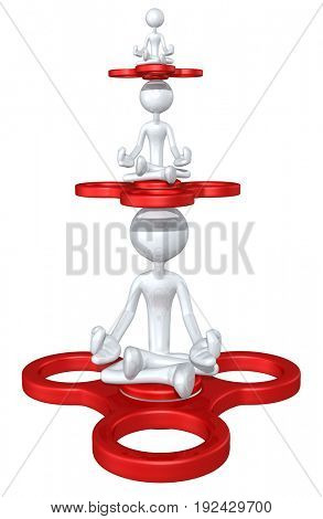 The Original 3D Character Illustration With A Fidget Spinner
