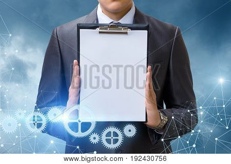 The List In Hand Businessman .