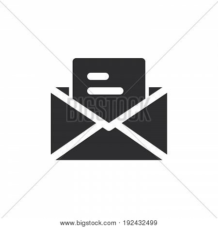 Letter email icon vector filled flat sign solid pictogram isolated on white. Symbol logo illustration. Pixel perfect