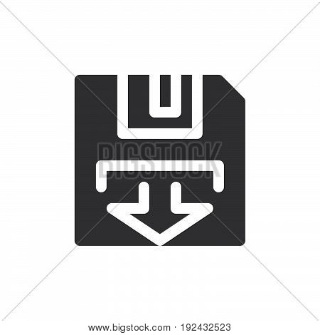Diskette icon vector filled flat sign solid pictogram isolated on white. Backup symbol logo illustration. Pixel perfect
