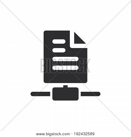 Sharing files icon vector filled flat sign solid pictogram isolated on white. Symbol logo illustration. Pixel perfect