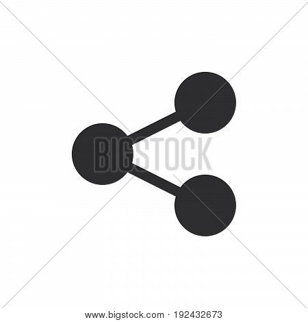 Share icon vector filled flat sign solid pictogram isolated on white. Connection symbol logo illustration. Pixel perfect