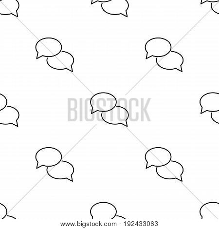 Talk seamless pattern in outline style for web, infographics and creative design.