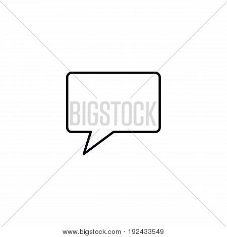 Call icon in outline style for web, infographics and creative design. Isolated vector illustration