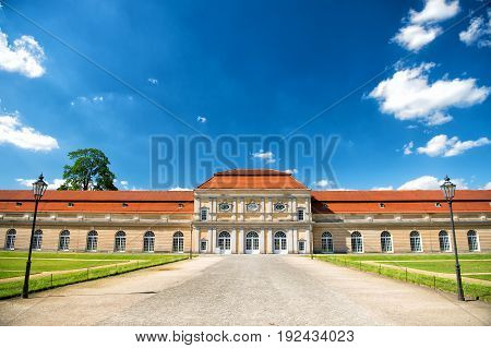 Charlottenburg palace and garden in Berlin Germany. historical museum