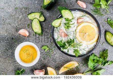 Tzatziki With Ingredients