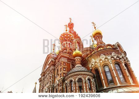 Church of the Saviour on Spilled Blood in sunlight, St. Petersburg, Russia